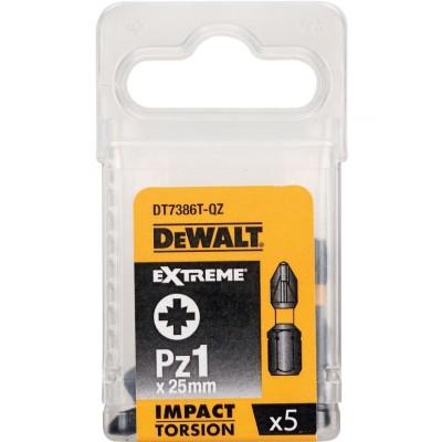 Фото - Бита DeWalt PZ1 25 мм ударная Torsion 5 шт. DT7386T-QZ бита bosch 2607001575 pz1 49 мм 3 шт