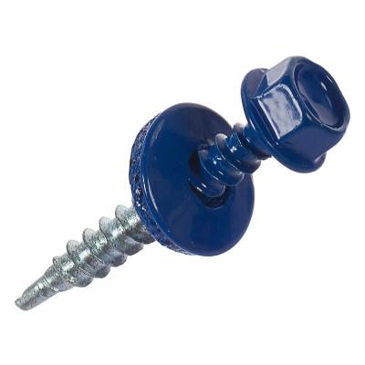 Саморезы кровельные 4.8х35 мм синие RAL 5005, 1 кг, 180 шт.