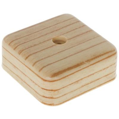 Фото - Коробка распределительная ОП Tplast 50х50х20 мм сосна распределительная коробка рувинил оп 9мод с дверцей цвет белый 68029