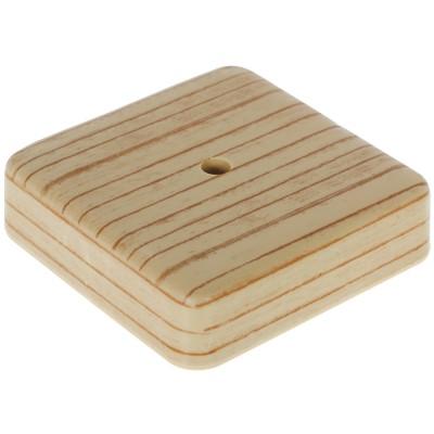 Фото - Коробка распределительная ОП Tplast 75х75х20 мм сосна распределительная коробка рувинил оп 9мод с дверцей цвет белый 68029