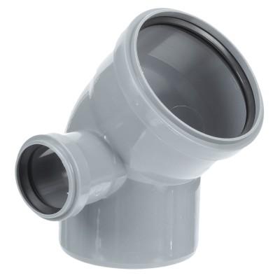 Отвод полипропиленовый PRO AQUA COMFORT d 110 мм х 45 градусов мм выход 50 левый отвод d 110 мм 15 градусов