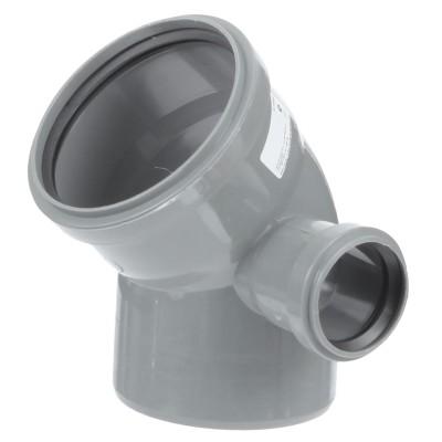 Отвод полипропиленовый PRO AQUA COMFORT d 110 мм х 45 градусов мм выход 50 правый отвод d 110 мм 15 градусов