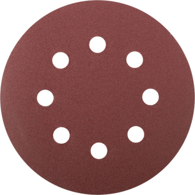 Набор Fit круги шлифовальные с отверстиями Р 150 125 мм, 5 шт.