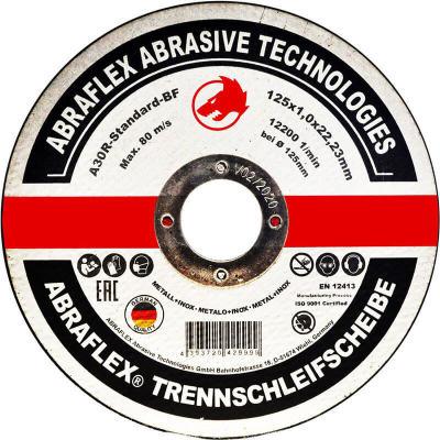 Диск отрезной по металлу Abraflex A30R Standard BF 125x1x22.23 мм А125102223