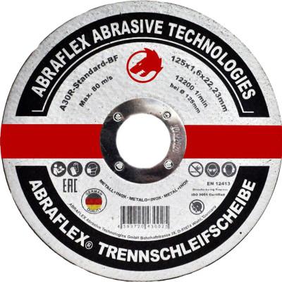 Диск отрезной по металлу Abraflex A30R Standard BF 125x1.6x22.23 мм А125162223