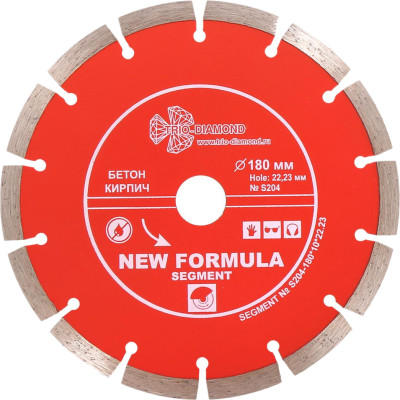 Диск алмазный Trio-Diamond New Formula Segment 180x10x22.23x2.2 мм S204