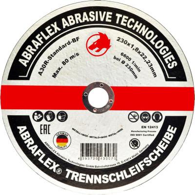 Диск отрезной по металлу Abraflex A30R Standard BF 230x1.8x22.23 мм А230182223