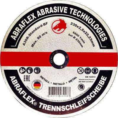 Диск отрезной по металлу Abraflex A30R Standard BF 230x2.5x22.23 мм А230252223