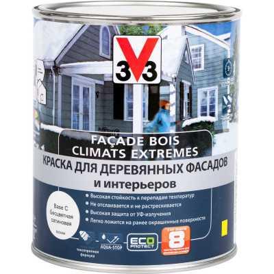 Краска для деревянных фасадов и интерьеров V33 База С 1 л