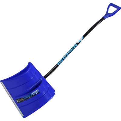 Лопата пластмассовая Монблан снегоуборочная синяя 370x490 мм