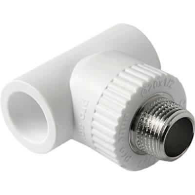 Тройник полипропиленовый Pro Aqua комбинированный PP-R НР белый 32 мм x 1/2