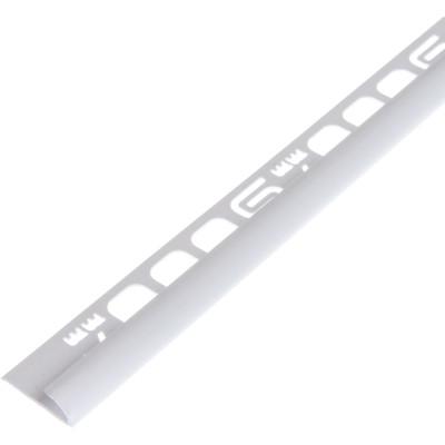 Раскладка для плитки наружная Salag ПВХ белая 7 мм 2.5 м