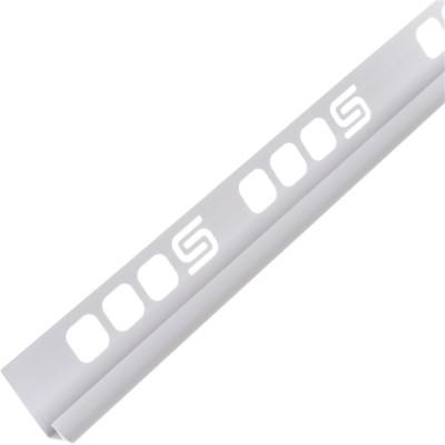 Раскладка для плитки внутренняя Salag ПВХ белая 7 мм 2.5 м