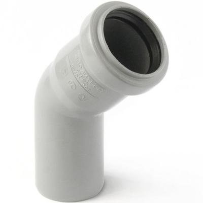Отвод полипропиленовый PRO AQUA COMFORT d 110 мм х 45 градусов отвод d 110 мм 15 градусов
