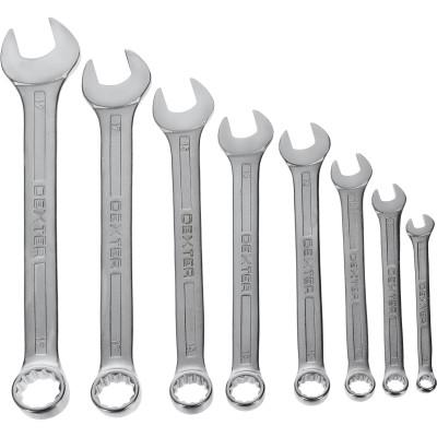 Набор комбинированных ключей Dexter CrV 6-19 мм, 8 шт.