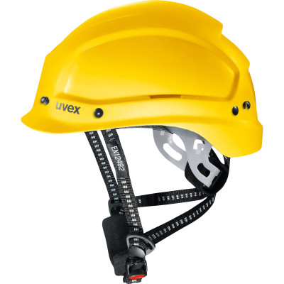 Каска защитная Uvex Феос алпайн 51-61 см с храповиком желтая