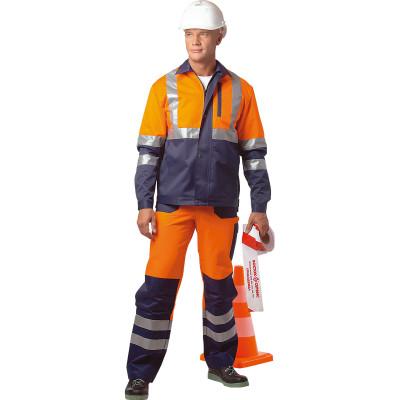 брюки мастер темно синий размер 56 58 рост 170 176 Костюм Асфальт Мастер флуоресцентный оранжевый с темно-синим размер 56-58 рост 170-176