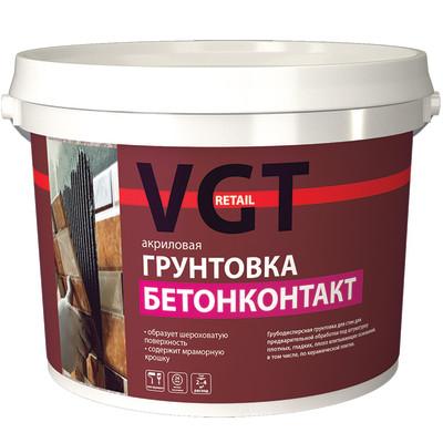 Грунтовка VGT RETAIL ВД-АК-0301 Бетонконтакт белая 16 кг
