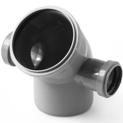Отвод полипропиленовый PRO AQUA COMFORT d 110 мм х 45 градусов 2 выхода 50 левый-правый отвод d 110 мм 15 градусов