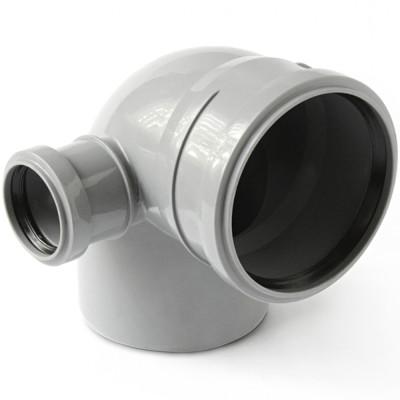 Отвод полипропиленовый PRO AQUA COMFORT d 110 мм х 90 градусов выход 50 левый отвод d 110 мм 15 градусов