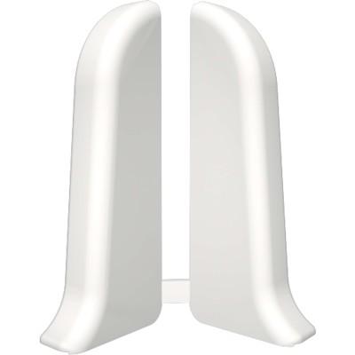 Торцевые для плинтуса IDEAL Идеал Комфорт 55 мм 001 белый 1 пара