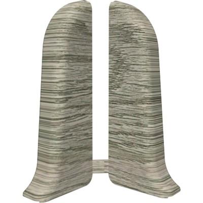 Торцевые для плинтуса IDEAL Идеал Комфорт 55 мм 210 дуб пепельный 1 пара