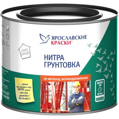 Нитрогрунтовка Ярославские краски серая 1.7 кг