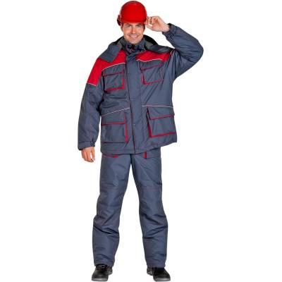 Костюм утепленный СПЕЦ серый с красным размер 44-46 рост 170-176 костюм рабочий утепленный спец 44 46 рост 158 164 см цвет темно синий серый