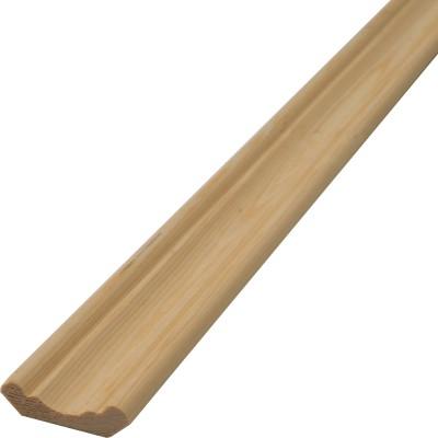 Плинтус фигурный сращенный 11х40х2500 мм сосновый сорт Экстра