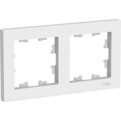 Универсальная рамка Schneider Electric Atlas Design 2 поста белая ATN000102