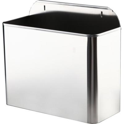 Контейнер для мусора Nofer 14098.2.S подвесной нержавеющая сталь серебристый 330x285x119 мм урны для мусора nofer nofer контейнер для мусора 23 л push open 14078 s