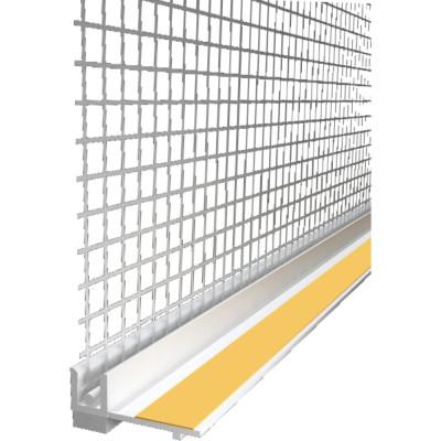 Профиль примыкающий с армирующей сеткой 6 мм 2.4 м Польша профиль примыкающий оконный пвх 6 мм белый 2 4 м