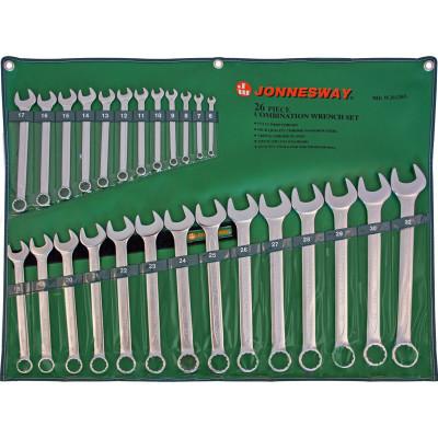 Фото - Набор ключей гаечных комбинированных Jonnesway W26126S в сумке от 6 до 32 мм 26 предметов набор комбинированных и рожковых гаечных ключей 32 шт 6 32 мм зубр 27086 h32