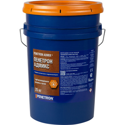 Добавка гидроизоляционная для бетона Пенетрон Адмикс ведро 25 кг