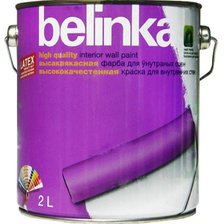 Краска интерьерная Belinka Latex износостойкая B1 белая 2 л