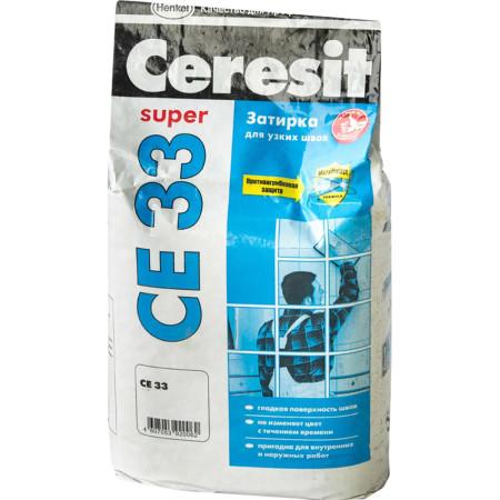Затирка Ceresit СЕ 33 Comfort 2-6 мм 2 кг серый 07