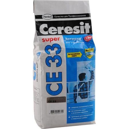 Затирка Ceresit СЕ 33 Comfort 2-6 мм 2 кг cветло-коричневый 55
