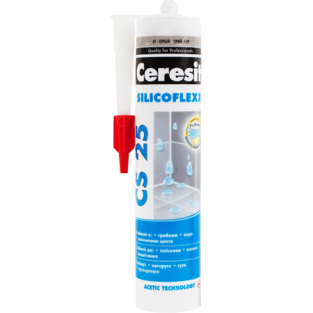 Затирка Ceresit CS 25 Silicoflex 280 мл серый 07