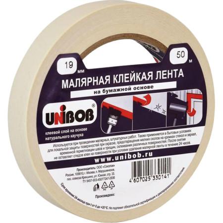 Малярная клейкая лента Unibob 19 мм x 50 м
