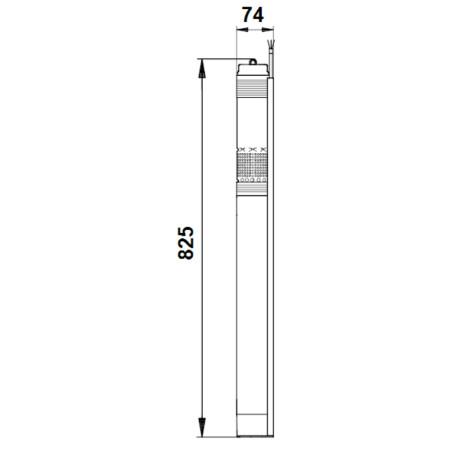 Комплект поддержания давления Grundfos SQE2-85 блок управления CU301 с кабелем 60м 96524506