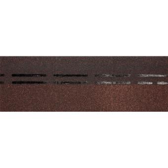 Коньково-карнизная черепица Docke PIE Standard коричневый 11 м