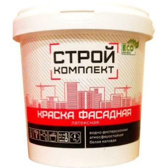 Краска фасадная Стройкомплект водно-дисперсионная белая 13 кг