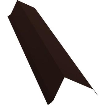 Планка торцевая с пленкой Grand Line 0.45 см PE RAL 8017 шоколад купить в интернет-магазине МаксиПРО