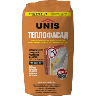 Клей для теплоизоляции Unis Теплофасад универсальный 25 кг