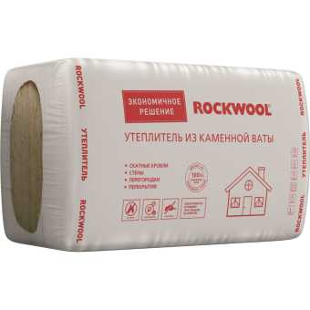 Каменная вата Rockwool Утеплитель Эконом 1000х600х50 мм 7.2 м2 (объем упаковки 0.36 м3)