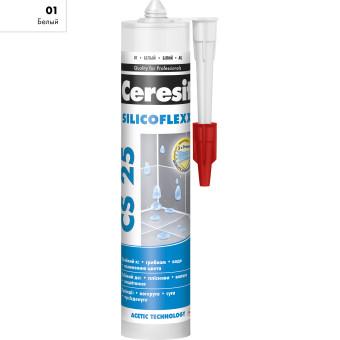 Затирка Ceresit CS 25 Silicoflex 280 мл белый 01