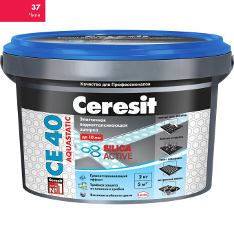 Затирка Сeresit CE-40 Aquastatic 2 кг Чили 37