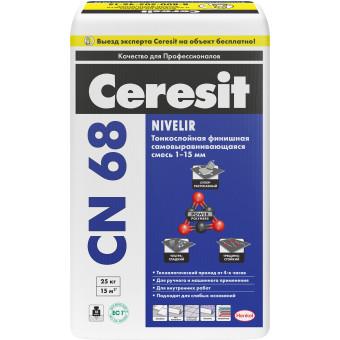 Смесь самовыравнивающаяся CERESIT CN 68 1-15 мм 25 кг