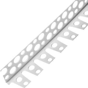 Профиль перфорированный угловой АЛБЕС арочный ПВХ 25x25x3000 мм