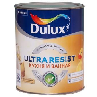 Краска для ванны и кухни Dulux Ultra Resist полуматовая BW 1 л